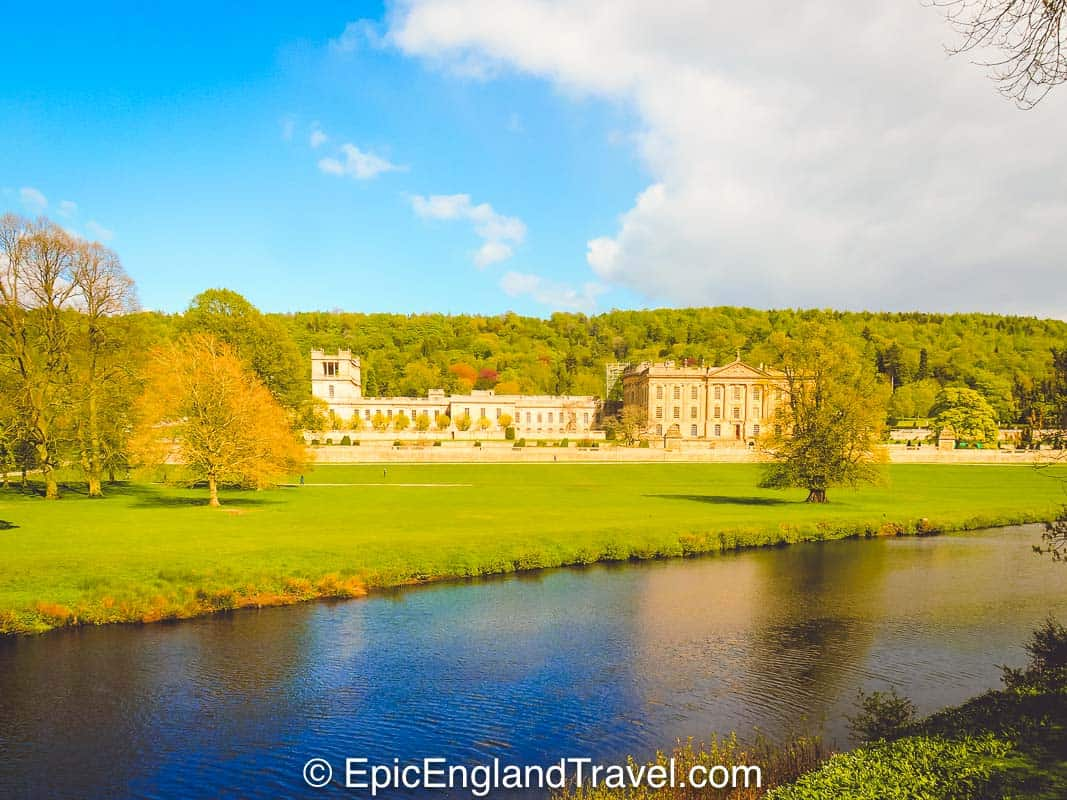 Chatsworth House with its beautiful parkland