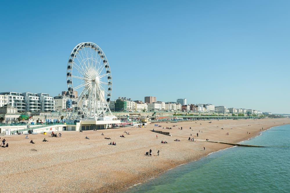 Brighton beach in England