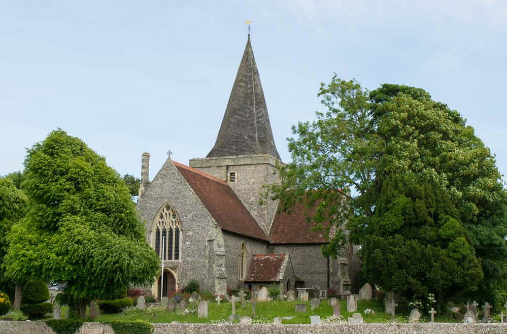 St. Andrew's Church, Alfriston, Sussex, England