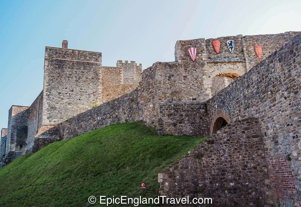 the walls of Dover Castle