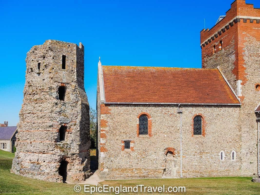 The Roman Lighthouse and Saxon Church