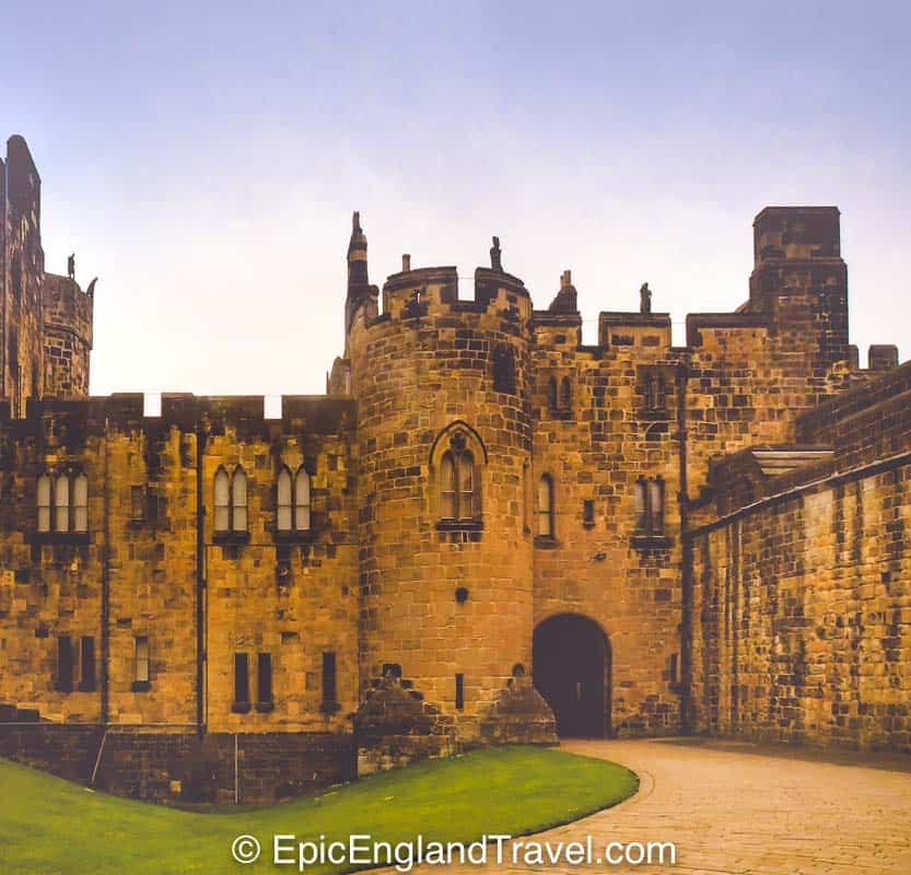 Alnwick Castle in Northumbria