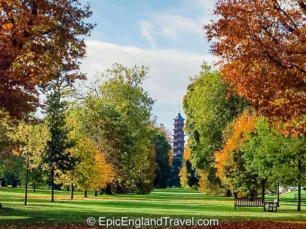 Kew Gardens in London in the Autumn
