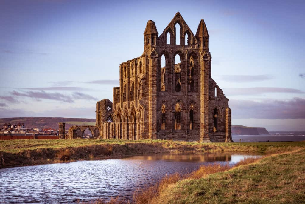 The ruins of Whitby Abbey in Yorkshire