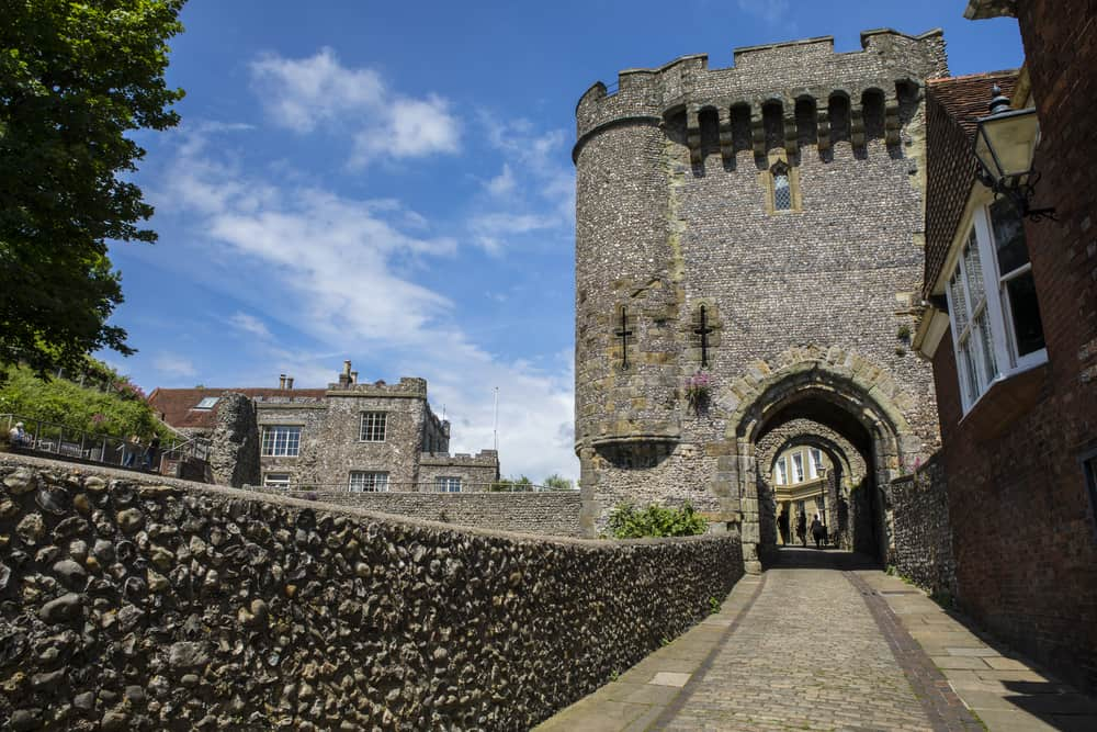 The Barbican Gate at Lewes Castle in East Sussex