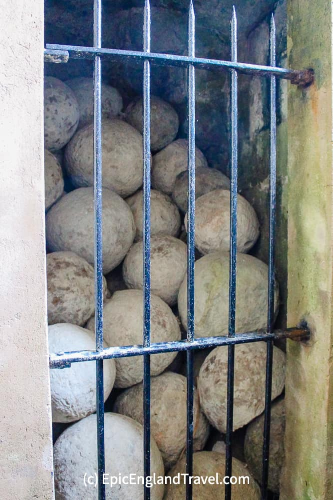 Medieval cannonballs were found in the moat at Pevensey Castle