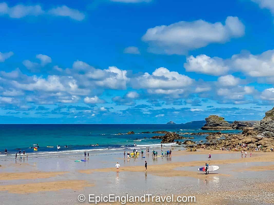 The beach at St Agnes near Newquay