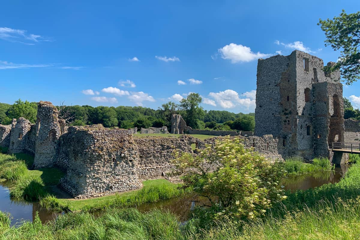ruins of Baconsthorpe, a castle in East Anglia which lies in ruins