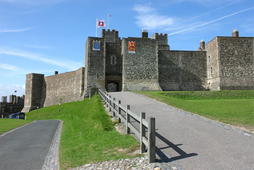 Dover Castle - a medieval fortress in United Kingdom, county of Kent.