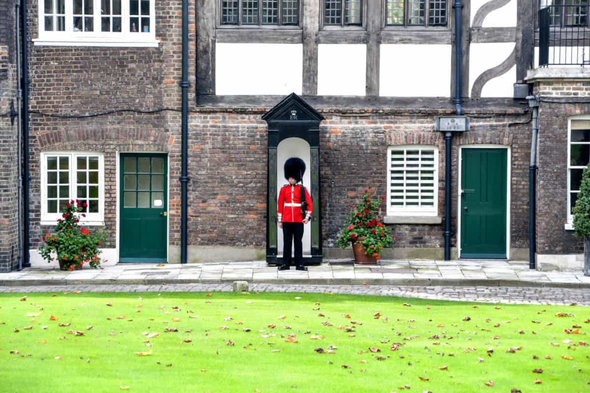 Royal Beefeater guard at the Tower of London