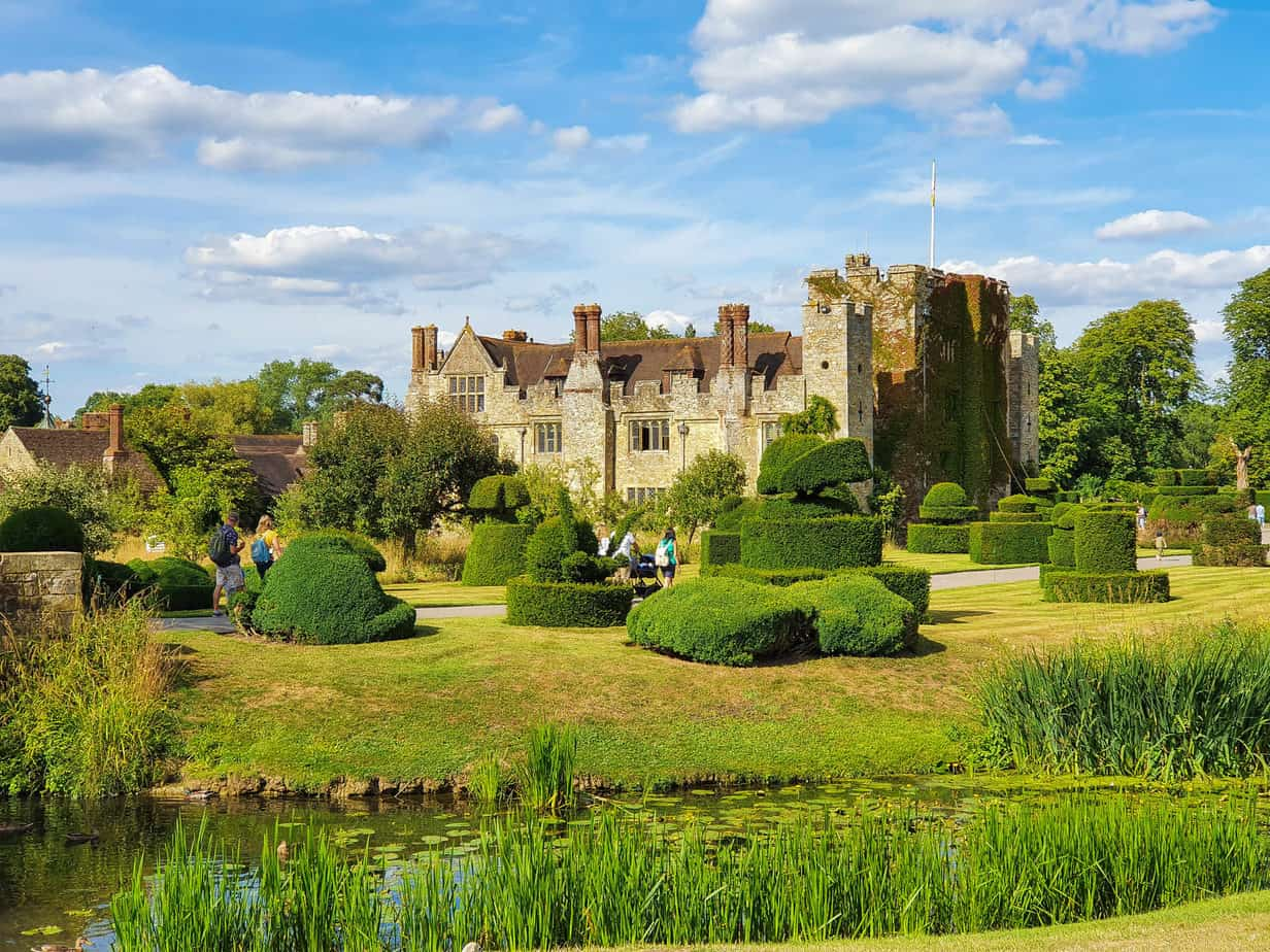 Hever Castle viewed from the garden