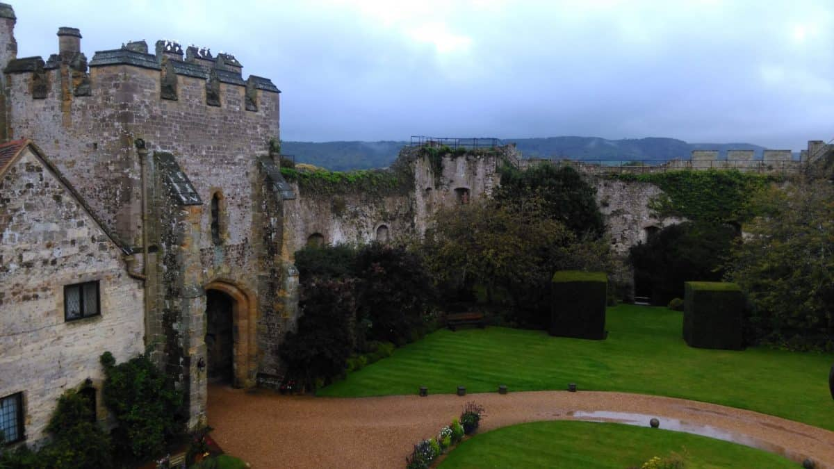 A gate to Arundel Castle in West Sussex England