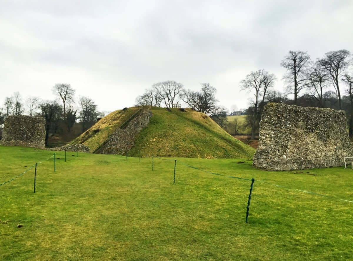 the ruins of Berkhamsted Castle near the Chilterns