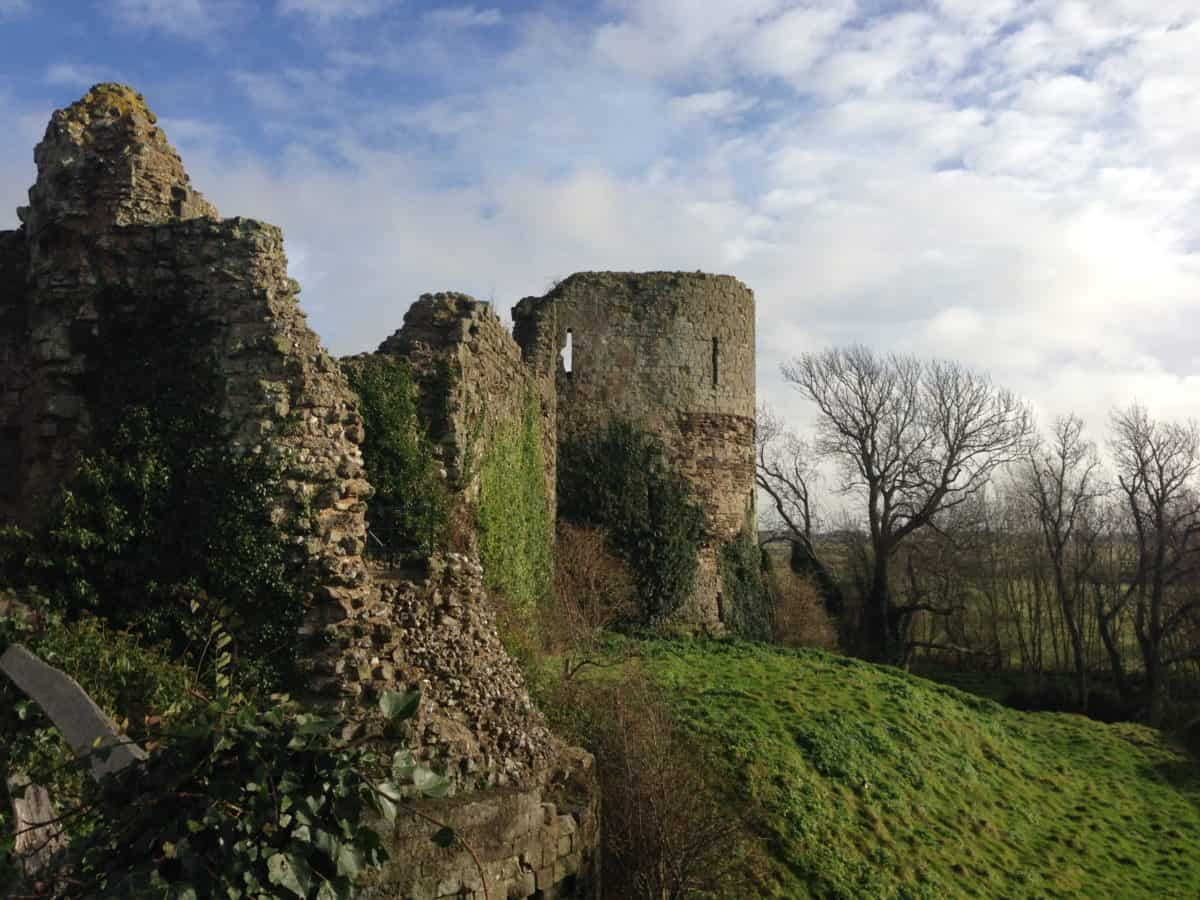 The ruins of Pevensey Castle